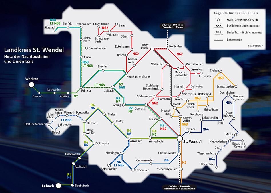 saarVV Nachtbus Landreis St. Wendel