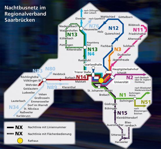 saarVV Nachtbus Regionalverband Saarbrücken