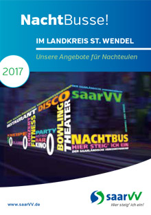 saarVV Faltblatt Nachtbusse Landkreis St. Wendel
