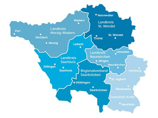 saarVV-Landkreise