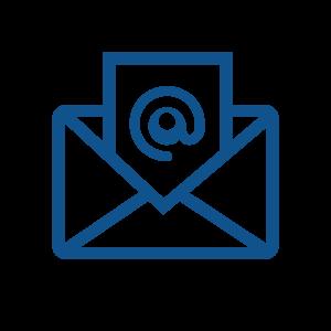 newsletter icon blau